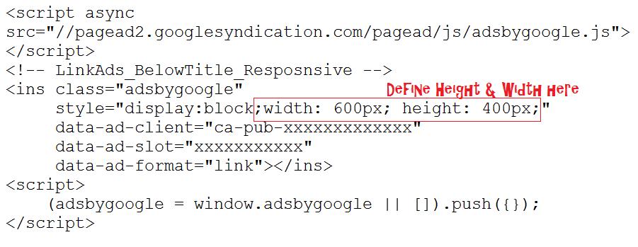 Link ad unit code 2