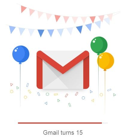 Gmail's 15th birthday