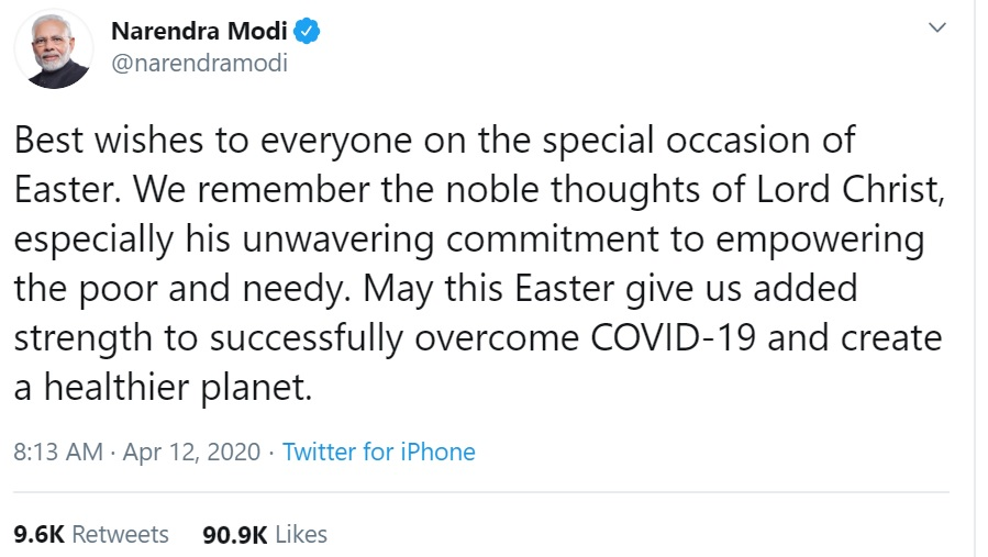 May this Easter give us added strength to successfully overcome COVID-19