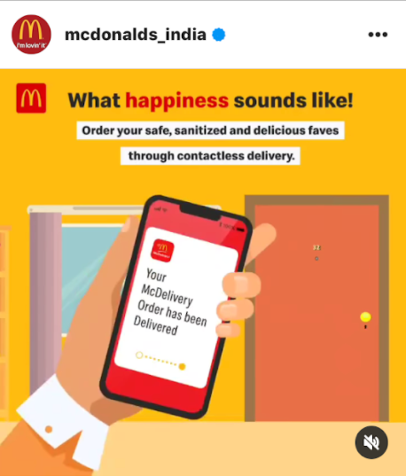Mcdonald's India video showing their service