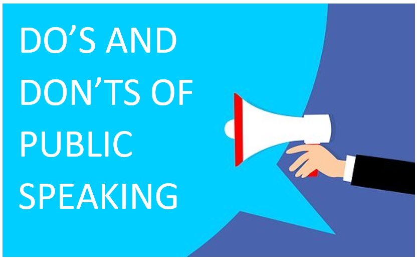 Do's and Don'ts of public speaking