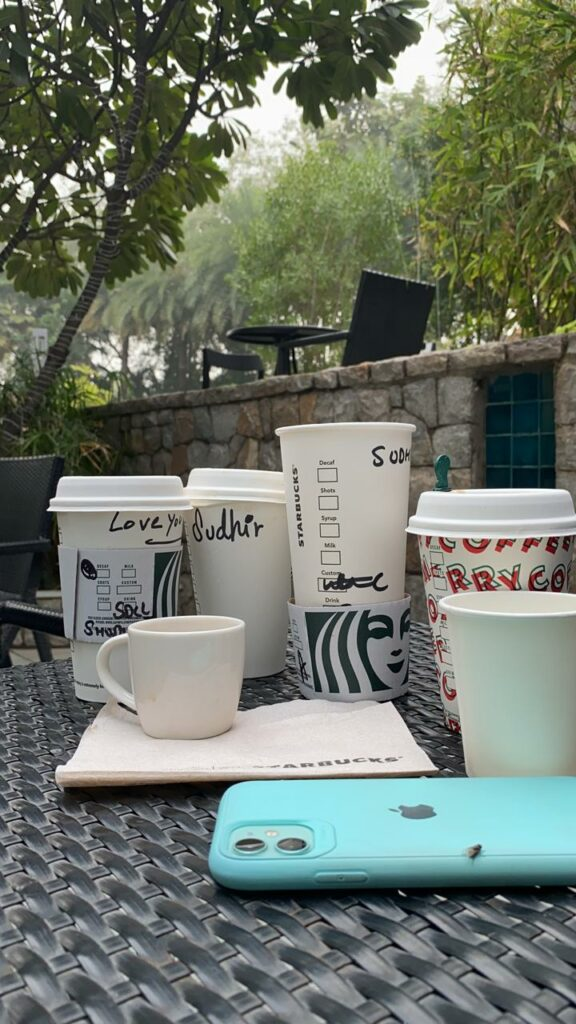 Cups in Starbucks