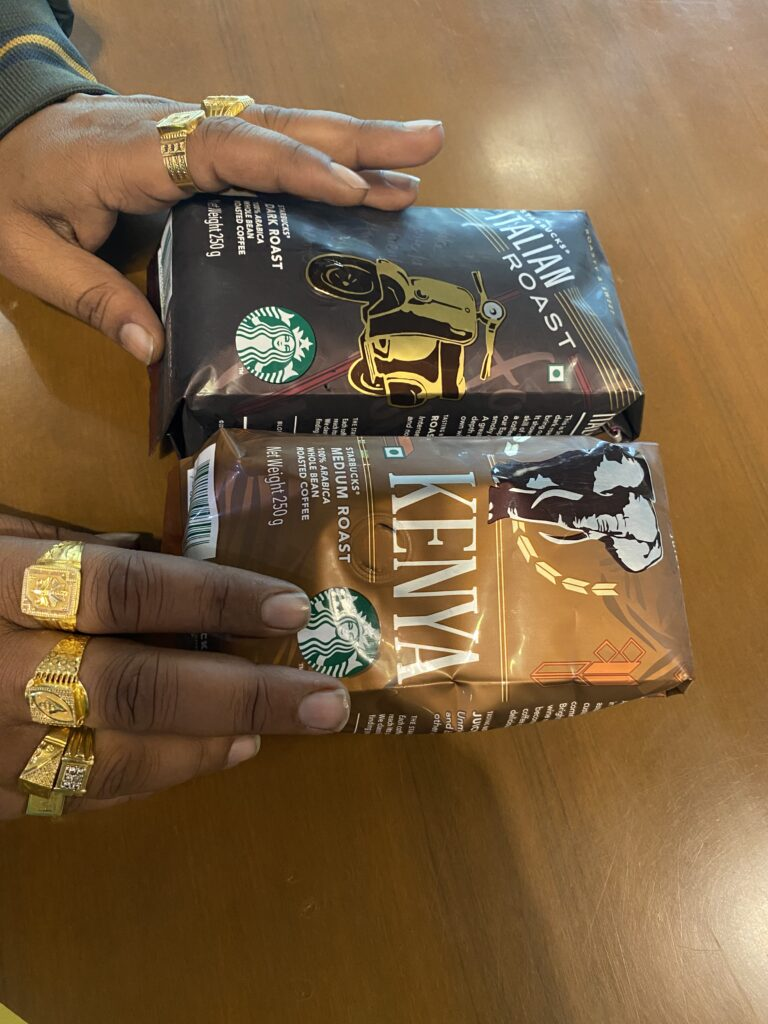 Starbucks Kenya & Italian Roast Coffees
