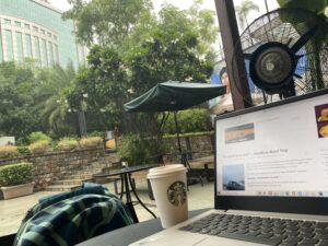Work, Coffee & Raining at Starbucks, Nehru Place, New Delhi